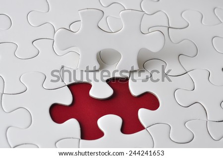 Missing Piece Puzzle, selective focus