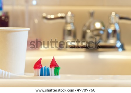 Missing The Important Things in Your Toothpaste - stock photo