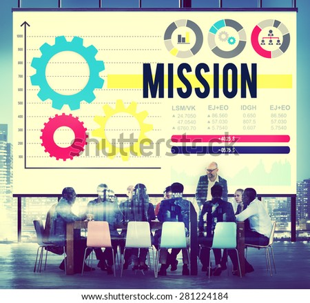 Mission Aim Aspiration Inspiration Goal Target Concept - stock photo