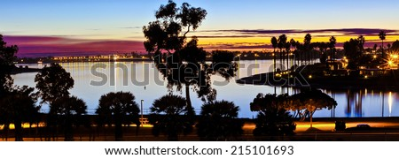 Mission Bay San Diego, California Sunset Panorama