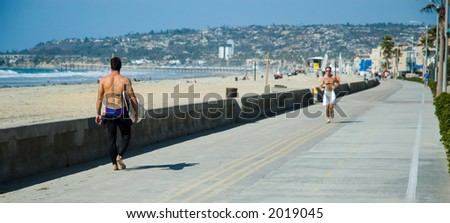 Mission beach - stock photo