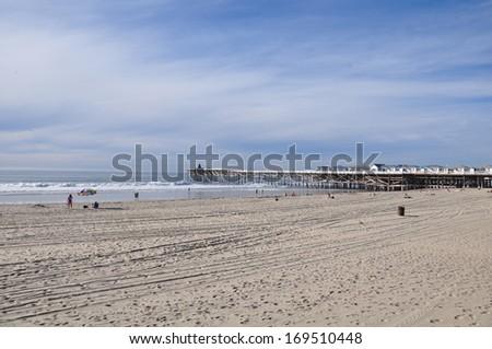 Mission Beach, near San Diego, in California - stock photo