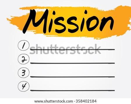 Mission Blank List, business concept background - stock photo
