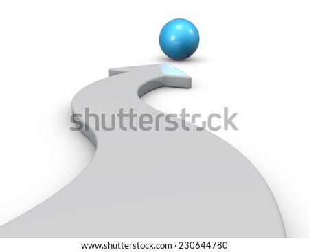 Mission 3d abstract concept. Three-dimensional illustration isolated on white background - stock photo