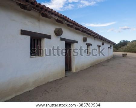 Mission La Purisima Concepcion is a Spanish mission in Lompoc, California. - stock photo