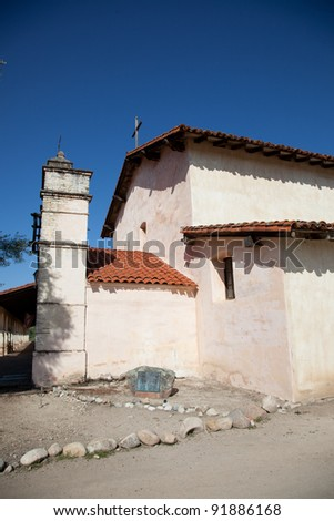 Mission San Antonio de Padua was founded on July 14, 1771, the third mission founded in Alta California - stock photo