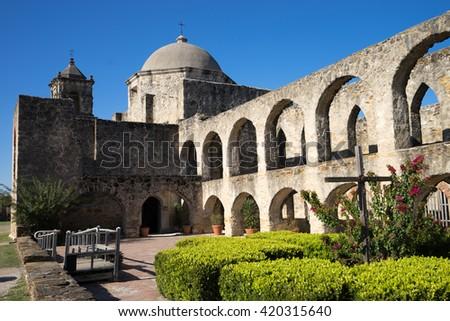 mission san jose in san antonio texas usa - stock photo
