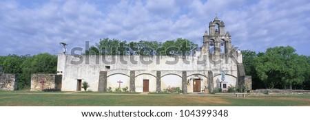 Mission San Juan from ca. 1750, San Antonio, Texas - stock photo