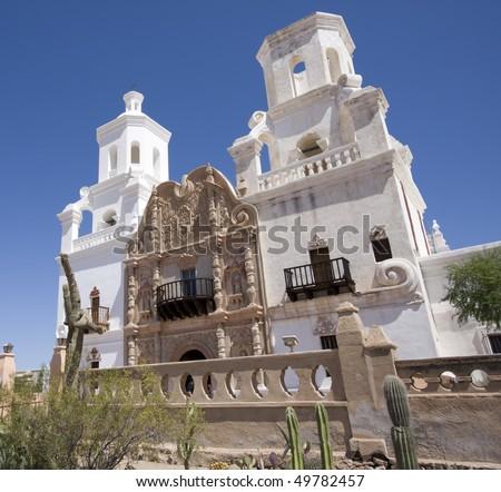 Mission San Xavier Del Bac, Tucson - stock photo