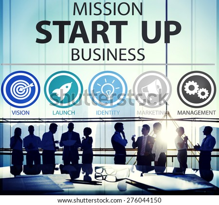 Mission Start Up Business Launch Team Success Concept - stock photo