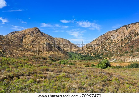 Mission Trails Regional Park in east San Diego county - stock photo