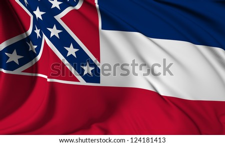 Mississippi flag - USA state flags collection no_3