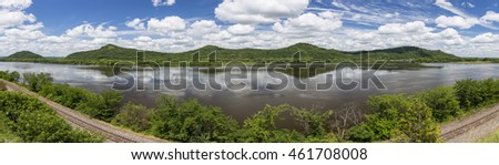 Mississippi River Scenic Panorama