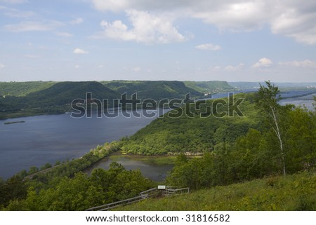 Mississippi River Vista - stock photo