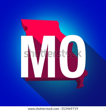 Missouri Mo Letters On D Map Stock Illustration - Missouri state map usa