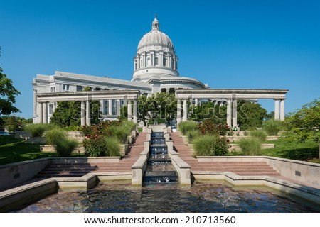 Missouri State Capitol in Jefferson City, Missouri - stock photo