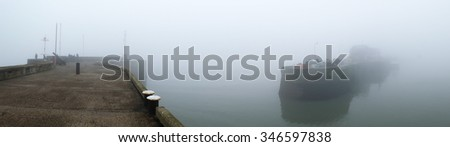 Mist or sea fret at Bridlington, north Yorkshire.