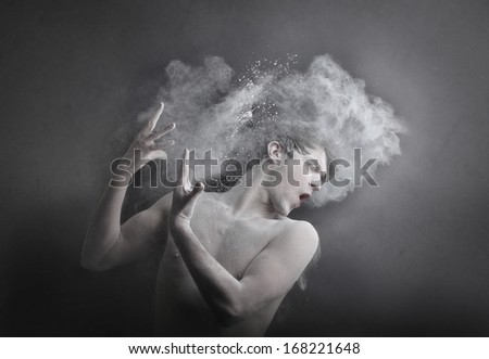 Misty Man - stock photo