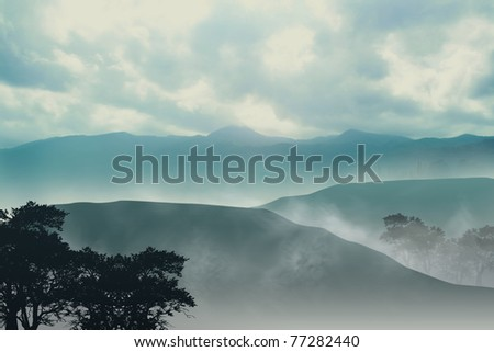 Misty Mountain - stock photo