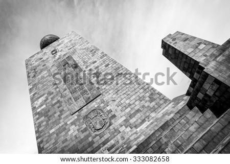 Mitad Del Mundo Middle Of The World Monument Near Quito Ecuador - stock photo