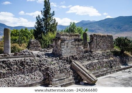Mitla archaeological site, Mexico - stock photo