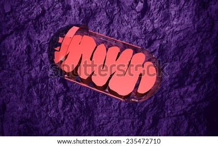 mitochondrion - stock photo