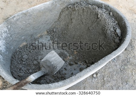 mix cement for construction - stock photo