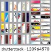 Mix Collection vertical and horizontal banners. Raster version - stock photo