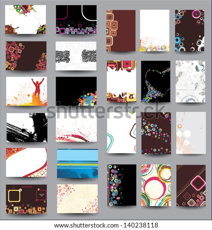 Mix Collection vertical and horizontal posters.  Raster version - stock photo