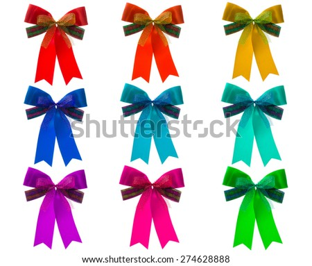 mix color christmas ribbon