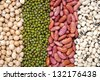 mix of bean and pea for background uses - stock photo