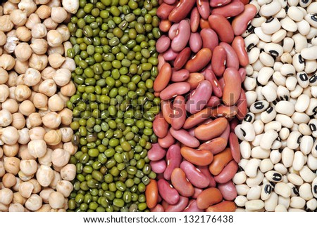 mix of bean and pea for background uses