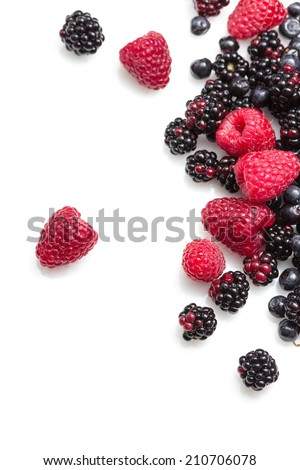 Mix of fresh berries - stock photo