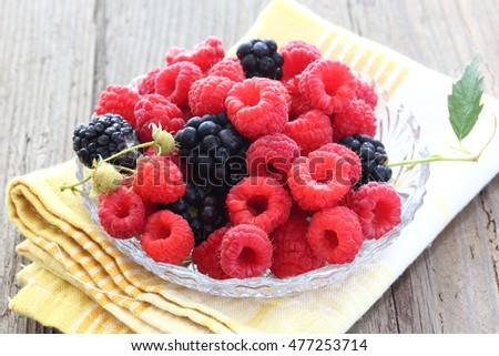 mix of fresh berries close up