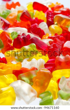 Mix of sweet jelly candies - stock photo