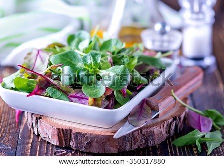 mix salad - stock photo
