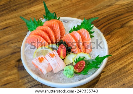 Mix Salmon Sashimi - stock photo