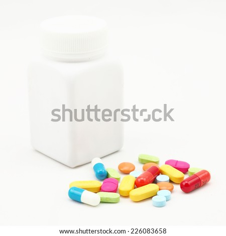 mix therapy drugs doctor flu antibiotic pharmacy medicine medical - stock photo
