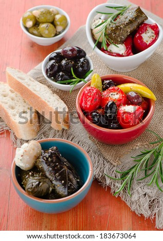 Mixed Antipasto - stock photo