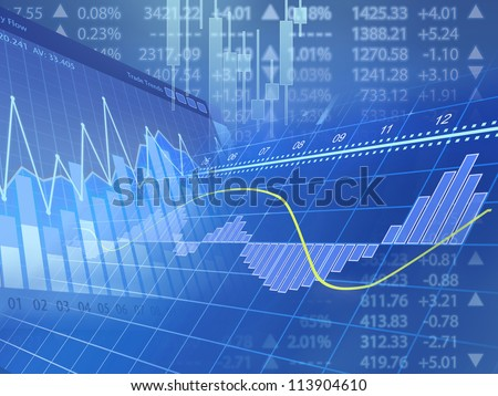 Mixed Charts - stock photo