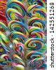 Mixed colorful fruit sweet bonbon lollipops - stock photo