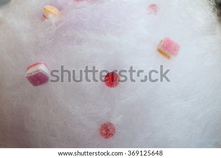 Mixed colorful of fruit candies and jellies - stock photo