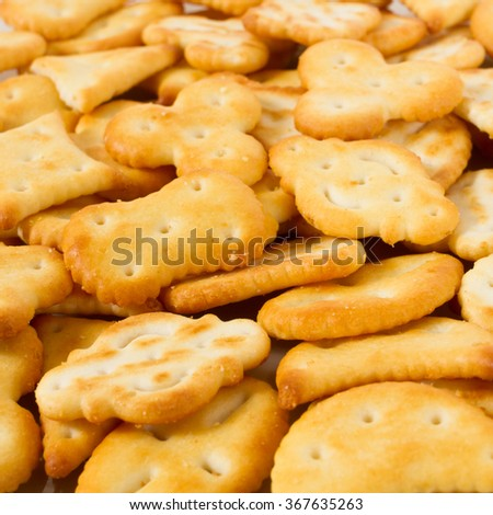 mixed crackers - macro