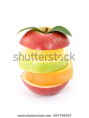 mixed creative fruit studio isolated