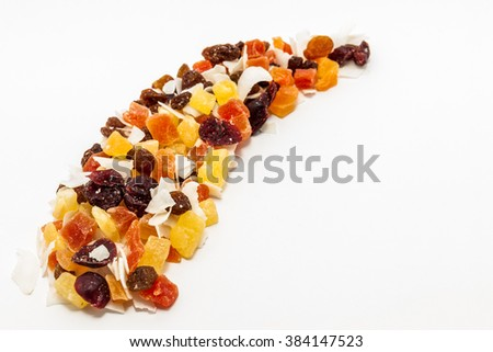 Mixed dry fruits cubes