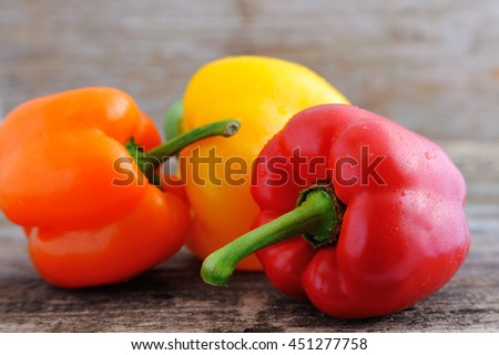 Mixed fresh peppers. Fresh sweet pepper,green onion