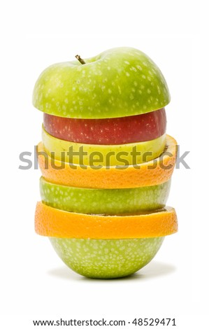 mixed fruit apple