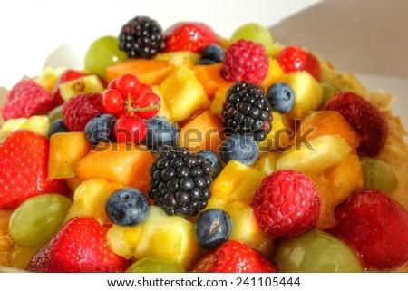 mixed fruit salad - stock photo