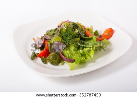 Mixed green vegetables  - stock photo