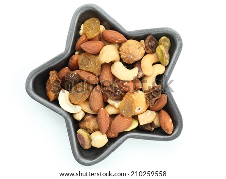 mixed nut - stock photo